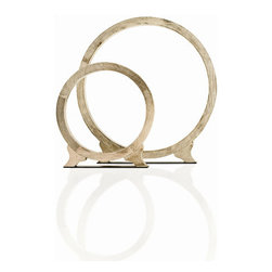 """Arteriors - Arteriors Home - Cody Ring Sculpture in Natural Wax - 2588 - Arteriors Home - Cody Ring Sculpture in Natural Wax - 2588 Features: Cody Collection Natural WaxNatural ColorNatural wax finishRing sculpture Wood constructionAntique brass finish base Some Assembly Required. Dimensions: 24 -36"""" W X 3"""" D X 25.5 - 37.5"""" H"""