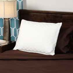 None - CozyClouds by DownLinens 750 Thread Count Silk Cotton White Goose Down Pillow - The CozyClouds by DownLinens silk cotton blend white goose down pillow will be one of the most luxurious and comfortable pillows you've ever slept on. This pillow provides you with a 750 thread count,versatile white cover and convenient zipper.