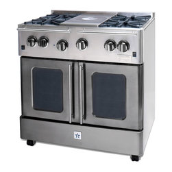 "BlueStar Enchanted Silver 36"" Gas Range - Enchanted Silver 36"" Gas Range-part of the Precious Metal Collection"