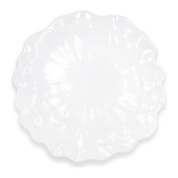 Q Squared NYC - Peony Serving Platter - The traditional floral symbol of China, peonies embody romance and prosperity with their lush, full-rounded blossom. Celebrate the beauty and good fortune of this ancient, ethereal flower.