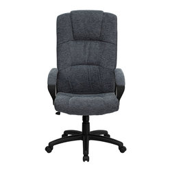 Flash Furniture - Flash Furniture High Back Office Chair in Gray - Flash Furniture - Office Chairs - BT9022BKGG - This reasonably priced office chair will get the job done while performing work related tasks or browsing the internet. The high back design makes it appealing and comfortable while sitting throughout the day. [BT-9022-BK-GG]