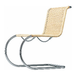 Gebruder T 1819 - Gebruder T 1819 S 533 Wicker Chair - The tubular steel cantilever chair S 533 combines timeless elegance with the comfort of an armchair.  Manufactured by Gerbruder T 1819.Designed in 1927.