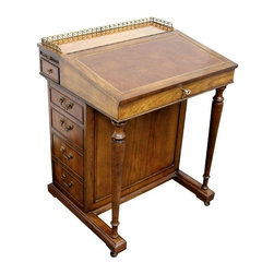 Brandt Hagerstown Antique Secretary Desk - Design Plus Gallery in San Francisco brings us an Antique secretary desk from Brandt, Hagerstown.  This venerable East Coast company in Maryland has been producing beautiful well crafted pieces since 1901. This lovely desk contains six drawers and two small expandable shelves.  Brandt started in 1901 in the Hagerstown, Maryland area. The company went out of business in 1985, but a few years ago, a couple of former employees bought the company and restarted production. There is one anecdotal story about Brandt that made them infamous. In 1953, at the height of the Cold War, Julius and Ethel Rosenburg were tried for treason. The only concrete evidence presented at their trial was a photograph of a Brandt table, in the hallway of the Rosenburg house, which was supposedly used to photograph nuclear secrets which were then passed on to the Soviets. The Rosenburgs claimed their innocence, the Brandt company said they could have done without the negative advertising and the story is still around today.