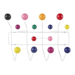 Herman Miller - Eames Hang-It-All Coat Hanger by Herman Miller - Charles & Ray Eames quite often infused their functional designs with a sense of play. Nowhere is this more evident than in the whimsical geometric form and numerous wooden spheres of the Eames® Hang-It-All Coat Hanger by Herman Miller®. This inventive piece is also strong, made of welded steel with drywall anchors for secure mounting. Since its early beginnings in 1905 (then known as the Star Furniture Company), Herman Miller has stood as one of the leaders in ergonomic furniture design and manufacture. Today, with a strong focus on designing furnishings with excellent form and function, this Michigan-based company produces a variety of home and office products that improve the human experience wherever people work, create, learn and live.