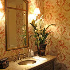 Traditional Powder Room by k.sutherland design