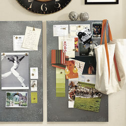 Zinc Magnetic Board - Use magnetic boards to keep track of greeting cards, family photos, fabric and paint swatches, memorabilia and other inspiring items.