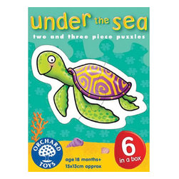 """The Original Toy Company - The Original Toy Company Kids Children Play Under the Sea - Six Jolly sea creatures to piece together. Ages 18 months plus. Puzzle size- 6""""x 5"""" 2-3 piece puzzles. Made in England."""