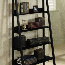 "Home Decorators Collection - Ladder 30""W Bookshelf - Add a look of simple elegance to your home or office with the sleek and stylish Ladder Bookshelf. 5 shelves graduate in size from top to bottom to provide the perfect area for storing books, movies and supplies or displaying photos and more. From the sturdy construction to the versatile design, this furniture is an excellent choice. Order now.Made of solid hardwood and hardwood veneer for lasting quality.Available in your choice of finish."