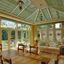 Conservatory Shades - Pinoleum conservatory shades in accent color - Photo by James Licata