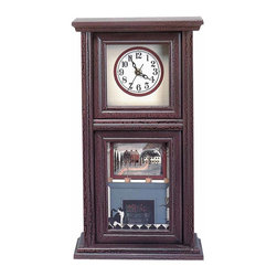 """Renovators Supply - Clocks Burgundy Wood Mission Crackle Clock 