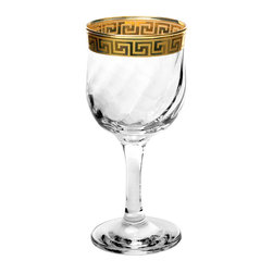 Lorren Home Trend - Lorren Home Trends Florence White Wine Glasses (Set of 4) - These white wine glasses by Lorren Home Trends are perfect for entertaining with elegance. The goblets feature a striking Venetian gold band for the ultimate in refined style.