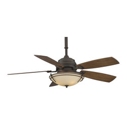"Fanimation - Fanimation 54"" Hubbardton Forge Standard Presidio Tryne Non-Uplight Ceiling Fan - Sometimes understated design can say quite a bit. We believe that beautiful things get noticed by discerning eyes. This fan features clean, elegant lines and is available in two unique finishes.Hubbardton Forge® lighting fixtures are available at your authorized Hubbardton Forge® dealer.Fanimation does NOT sell Hubbardton Forge® lighting fixturesDownlight Kit requires three 40-watt candelabra bulbs (included)"