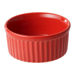 Revol - Revol Porcelain Grands Classiques/Happy Cuisine Ramekin - Whether you use ramekins for serving dishes or to showcase culinary skills of epic proportions, having the right one for your needs is important. This colorful version adds a pop of personality to anything that sits inside, making it impossible for anything you serve to seem subpar.