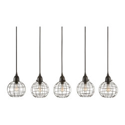 Lazy Susan - Five - Wire Ball Pendant Lamp - Five - Wire Ball Pendant Lamp