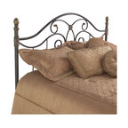 Fashion Bed - Fashion Bed Dynasty Metal Headboard in Autumn Brown Finish-Full - Fashion Bed - Headboards - B95N54 - Whimsical decorative detail and delightful scroll work give the Dynasty a traditional flavor with modern sensibilities. The vertical spindles beautifully offset the curved flowing lines of the headboard. It will add style and sophistication to your decor.