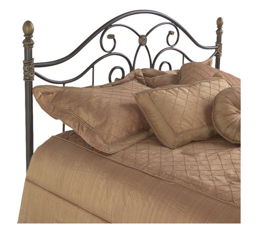 Fashion Bed - Fashion Bed Dynasty Metal Headboard in Autumn Brown Finish-Queen - Fashion Bed - Headboards - B95N55 - Whimsical decorative detail and delightful scroll work give the Dynasty a traditional flavor with modern sensibilities. The vertical spindles beautifully offset the curved flowing lines of the headboard. It will add style and sophistication to your decor.