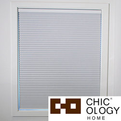 None - Chicology Room Darkening Cordless Cellular Window Shade - Cordless Cellular window shades are energy efficient by helping to insulate your home. These cordless shades open and close with the gentle pull and push of your hand. Select from a range of sizes to fit your windows.