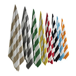 Luxor Linens - Anatalya Classic Resort Beach Towel - Feel like you're at a luxury resort wherever you are with this bold, beautiful beach towel. Broadly striped in a range of rich colors and made from 100 percent Turkish cotton, it's a super soft and super stylish poolside companion.