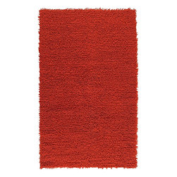 Surya - Shag Todd 5'x8' Rectangle Carrot Area Rug - The Todd area rug Collection offers an affordable assortment of Shag stylings. Todd features a blend of natural Carrot color. Handmade of 100% New Zealand Felted Wool the Todd Collection is an intriguing compliment to any decor.