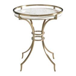 Aquarius - Aquarius Onyx Lamp Table in Gold Finish - Aquarius - End Tables - 014211801 - About the Aquarius Collection:
