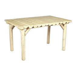 """Rustic Natural Cedar - Rustic Natural Cedar 020130C Wooden Table 54"""" X 32"""" - - Height: 29"""""""