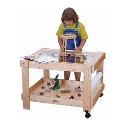 Jonti-Craft - Jonti Craft Kid's Creative Discovery Caddie (55 in. L with 2 Bins) - Choose Size: 55 in. L w 2 Bins.