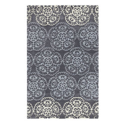"""Surya - Surya Mamba MBA-9019 (Light Gray, Flint Gray) 3'6"""" x 5'6"""" Rug - The rugs in Mamba collection are truly unique. Fun patterns in vibrant colors, these rugs are hand tufted from 100% polyester making the soft and durable. Add one to any space to give it a special personality."""