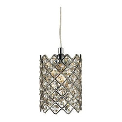 Modern Crystal Pendant Lighting in Chrome Finish -