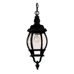 Savoy House - Savoy House 07095-BLK Exterior Collections Hanging Lantern - Decorate your favorite outdoor spaces to bring a sense of style Al Fresco!