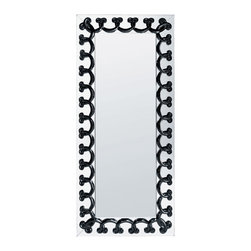 Lalique - Lalique Rinceaux Full Length Mirror Black - Lalique Rinceaux Full Length Mirror Black 1021810  -  Size: 1.61 Inches Long x 25.79 Inches Wide x 59.61 Inches Tall  -  Genuine Lalique Crystal  -  Fully Authorized U.S. Lalique Crystal Dealer  -  Created by the Lost Wax Technique  -  No Two Lalique Pieces Are Exactly the Same  -  Brand New in the Original Lalique Box  -  Every Lalique Piece is Signed by Hand, a Sign of its Authenticity and Quality  -  Created in Wingen on Moder-France  -  Lalique Crystal UPC Number: 090592081945