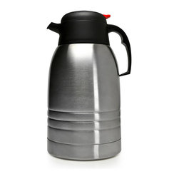 EPOCA - Thermal 2L Carafe Double Wall Stainless Steel with Temp Assure Technology - This Thermal Stainless Steel Serving Carafe is a double walled insulated carafe that will keep your beverages hot or cold for up to 8 hours. Temp Assure is a thermometer that works by reading the temperature of the vapor of the beverage. The thermometer never comes in contact with the actual beverage. This has a 2 liter capacity.