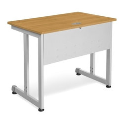 OFM - OFM Modular Computer/Privacy Table 24 x 36, Maple - No tools required for assembly