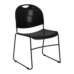 Flash Furniture - Flash Furniture Stack Chairs Plastic Stack Chairs X-GG-KB-881-TUR - This multi-purpose stack chair is very durable and sure to fit the needs of your environment. Textured seat and back will assure safe and comfortable seating. These chairs are easy to clean so clean up can be a breeze after functions. This chair will make a great reception, meeting, office, and classroom or break room chair. [RUT-188-BK-GG]