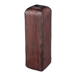 Sterling Industries - Arcola Red Ribbed Floor Standing Vase - Arcola-Red Ribbed Floor Standing Vase by Sterling Industries