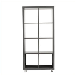 Eurostyle - Sabra 4X2 Storage Unit-Gry - High-gloss lacquered MDF (5mm thick)
