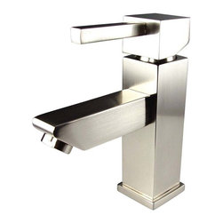 Fresca - Fresca - Versa - Single Hole Brushed Nickel Vanity/Bathroom Faucet - Fresca faucets are the same great faucets that ship with the vanities we sell at DecorPlanet. Now you are able to purchase these faucets individually. This faucet is made from heavy duty brass and features a brushed nickel finish.