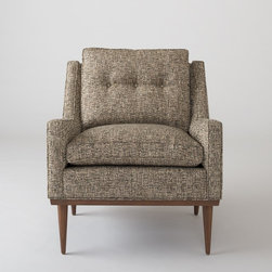 Jack Chair, Nubby Tweed - Sophisticated yet fun, this midcentury modern–inspired chair is soft and cozy. The tweed upholstery would make it a classy addition to any room.