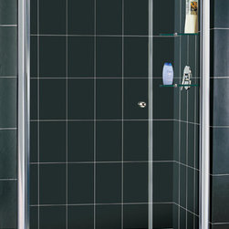 """Dreamline - Elegance Frameless Pivot Shower Door & SlimLine 36"""" x 48"""" Single Threshold Base - This DreamLine shower kit combines an ELEGANCE pivot shower door with a coordinating SlimLine shower base. The ELEGANCE pivot shower door delivers a fresh modern look with a frameless glass design, while adjustable installation features provide a perfect fit. A SlimLine shower base completes the transformation with a modern low profile design. Give your bathroom renovation a touch of elegance with this efficient bathroom renovation solution."""