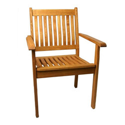 Haste Garden - Riviera Stacking Armchair - Robinia wood is resistant to decay. All of the wood used in our furniture is sourced from Europe and is 100% FSC certificated. - Made in Poland. - Ships knocked down with easy assembly.