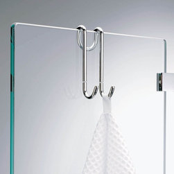 Modo Bath - Harmony 206 Hang Up Hook for Shower Cabins in Chrome - Harmony 206 Hang Up Hook for Shower Cabins in Chrome - Towel Hook - In Chrome - Wall Mounted - Designer, High End Quality Towel Hook - Made in Germany