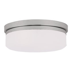 Livex Lighting - Livex Lighting 7392-05 Ceiling Mount or Wall Mount - Glass Type/Shade Type: Hand Blown Satin White Glass