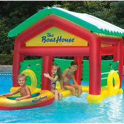 """The Boathouse Floating Habitat for Kids - -Dimensions: 78"""" L x 45"""" W x 63"""" H"""