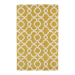 Kaleen - Kaleen Revolution Collection Rug, Yellow - The color Revolution is here! Trendy patterns with a fashion forward twist of the hottest color combinations in a rug collection today. Transform a room with the complete color makeover you were hoping for and leaving your friends jealous at the same time! Each rug is hand-tufted and hand-carved for added texture in India, with a 100% soft luxurious wool.