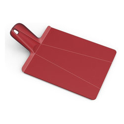 """Joseph Joseph - Joseph Joseph """"Chop2Pot"""" Plus Small Cutting Board, Red - Developed with designer Mark Sanders, this Chop 2 Pot cutting board allows you to chop then conveniently folds for transport to your pot or bowls"""