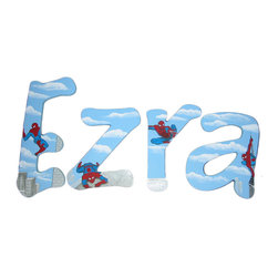 Spiderman Painted Letters -