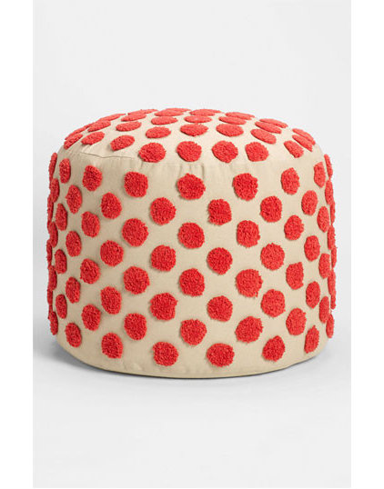 eclectic ottomans and cubes by Nordstrom