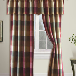 United Curtain - Burgundy Plaid Curtain Panel - Add a wave of elegance to any well-dressed room with these striking and stylish plaid curtains. Each panel showcases delightful design and adds instant charm to d̩cor. �� Includes one panel 100% polyester Machine wash, tumble dry Imported
