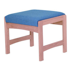 Wooden Mallet - Solid Wood Bench w Upholstered Seat & Light O - Fabric: Powder BluePictured in Light Oak with Powder Blue fabric finish. 1 In. thick solid oak frame. Coated with durable state-of-the-art finish to stand up to heavy use. Tasteful contemporary styling coordinates with any décor. Minimal assembly required. Made in the USA. Complies with California TB 117 fire code. 1-Year limited warranty. Weight capacity: 400 lbs. per seat. 20 in. D x 21.5 in. W x 19 in. H (22 lbs.)Wooden Mallet's Dakota Wave bench offers your clients irresistible style and comfort. It's the kind of versatile design that works in any space. Stylish, economical, and durable, this bench is built to stand up to the heavy use of a busy office environment. Choose from dozens of stain and fabric combinations to customize this bench for any décor or contact us to learn about supplying your own fabric for a personalized look. Use it as part of our suite of Dakota Wave furniture, and completely furnish your waiting room.
