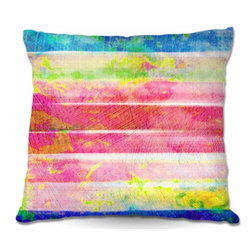 DiaNoche Designs - Pillow Woven Poplin - Spotted Stripes - Toss this decorative pillow on any bed, sofa or chair, and add personality to your chic and stylish decor. Lay your head against your new art and relax! Made of woven Poly-Poplin.  Includes a cushy supportive pillow insert, zipped inside. Dye Sublimation printing adheres the ink to the material for long life and durability. Double Sided Print, Machine Washable, Product may vary slightly from image.