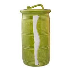Paper Towel Holder - Glaze Color - Island Palms